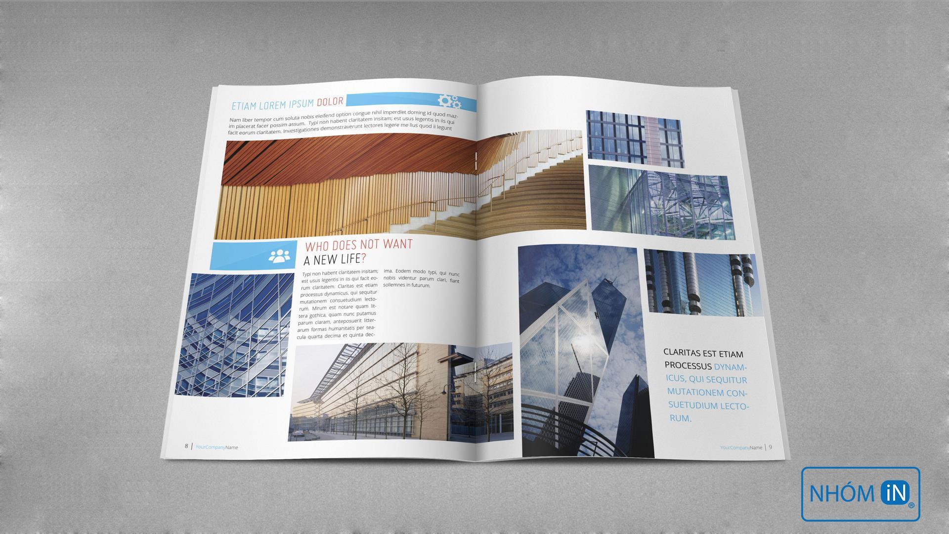 NHÓM IN Thiết kế catalogue A4 ấn tượng nâng cao hiệu quả marketing doanh nghiệp