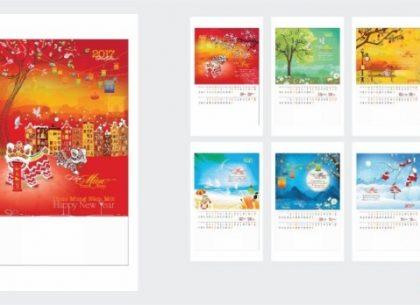 Nhận in lịch tết 2018 độc đáo tại Hà Nội