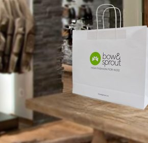 Túi giấy Bow & Sprout kraft trắng
