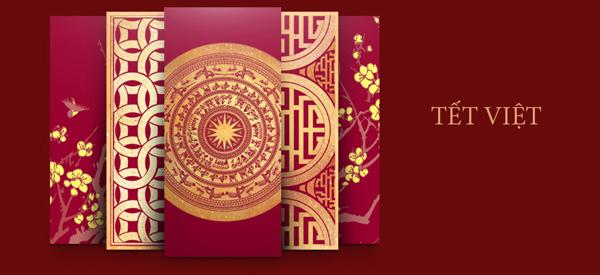 thiết kế phong bao lì xì đón năm mới Ất Mùi