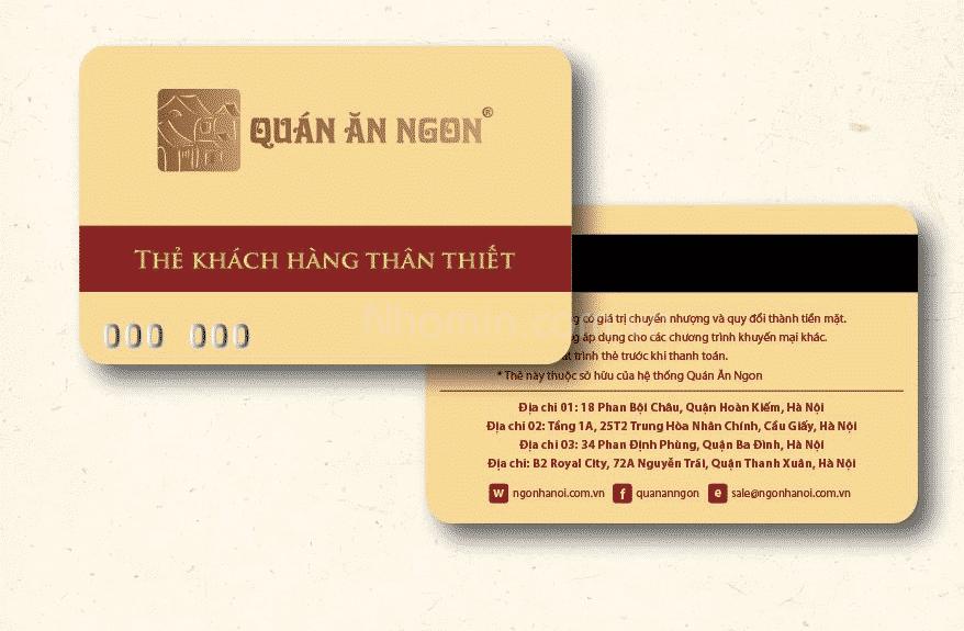 In thẻ nhựa khách hàng chất lượng tại Nhóm In