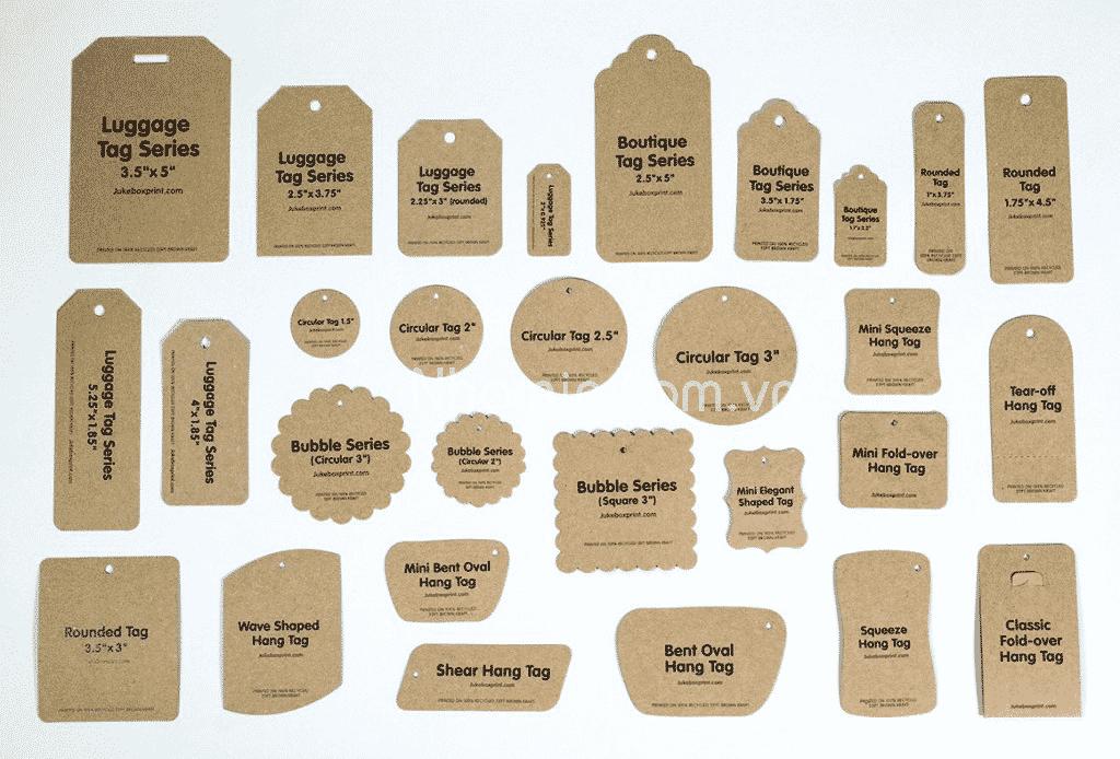 5 chất liệu giấy in tag treo phổ biến và thông dụng nhất