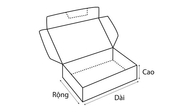 Kích thước hộp giấy