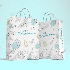 in túi giấy đựng quần áo cho shop Lkosme