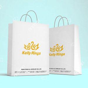 mẫu túi giấy đựng trang sức sang trọng