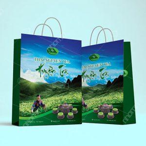 túi giấy đựng sản phẩm trà sen thái nguyên