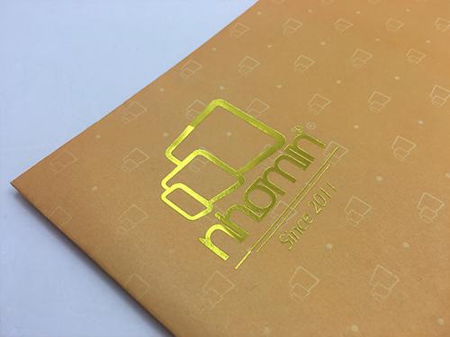 logo phong bì ép kim vàng