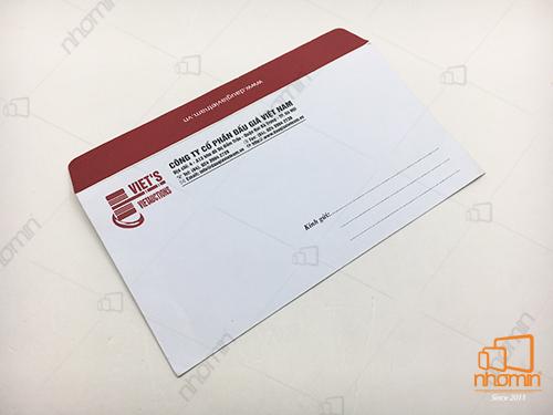 phong bì chất liệu giấy offset