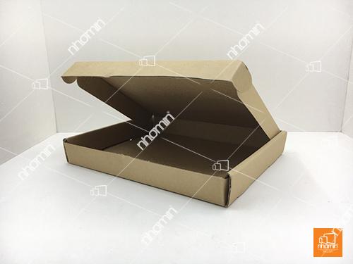 kiểu hộp carton nắp mở pizza