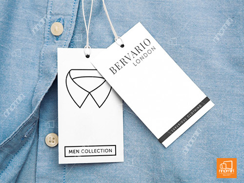 tag giấy treo quần áo chất liệu Briston