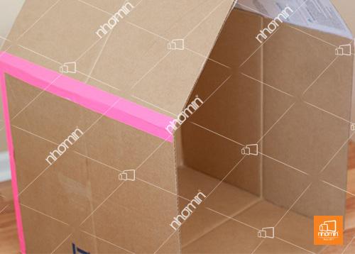 thùng carton dán cạnh