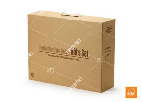 thùng carton không in nền