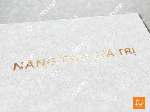 ép kim vàng tiêu đề thư