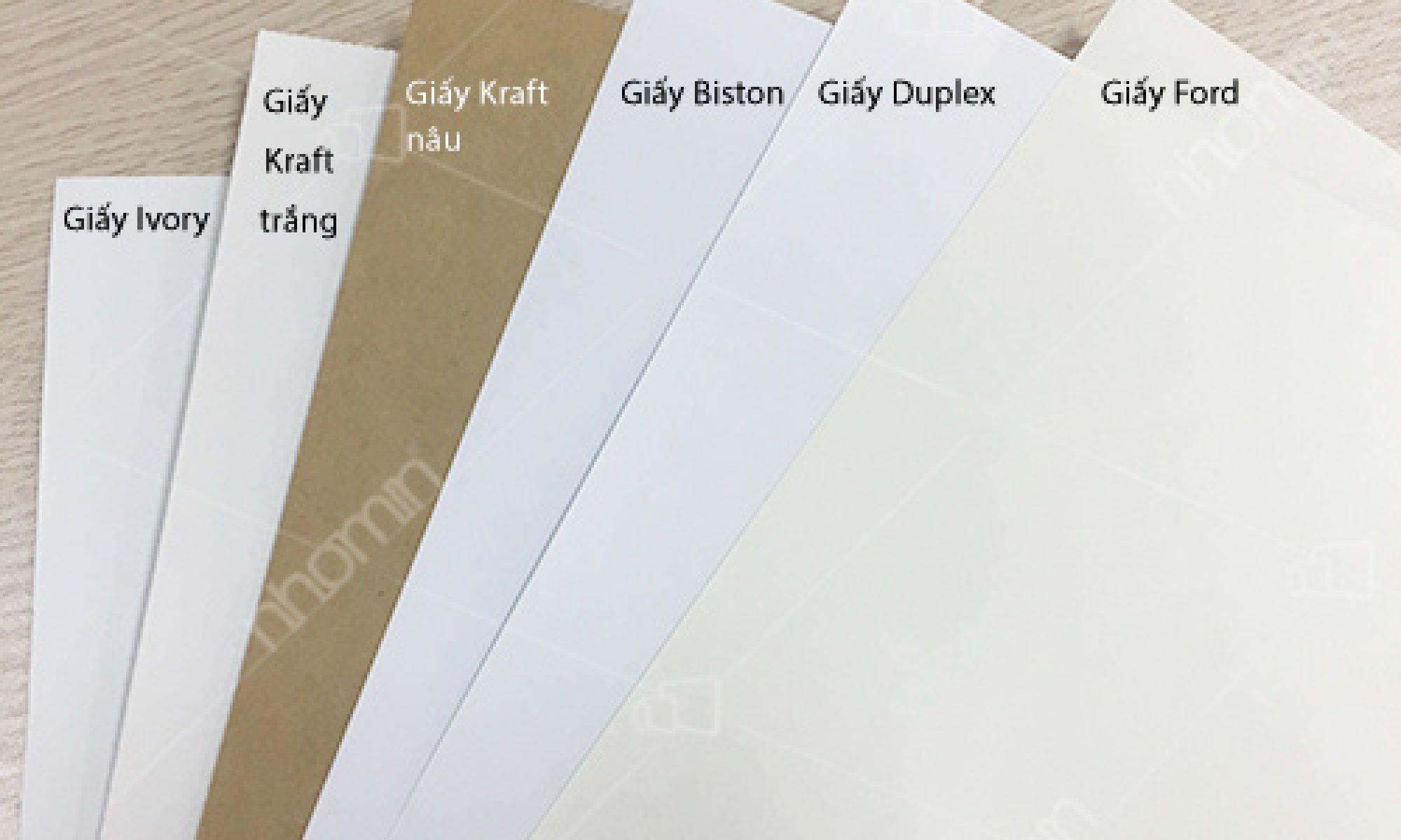 chất liệu túi giấy