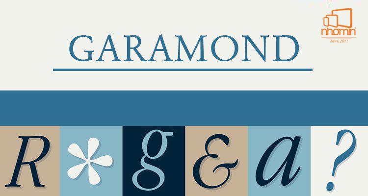 font chữ garamond nhomin