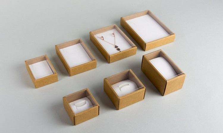 mẫu hộp trang sức giấy kraft