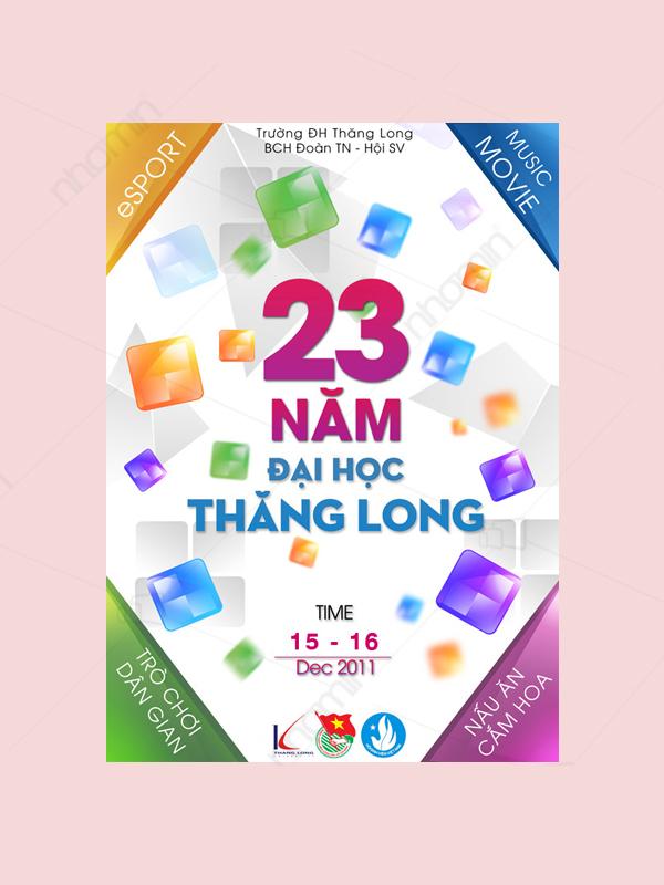 Mẫu thẻ sự kiện 23 năm ĐH Thăng Long