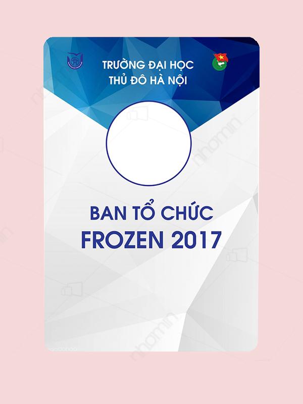 Mẫu thẻ đeo ban tổ chức Frozen 2017
