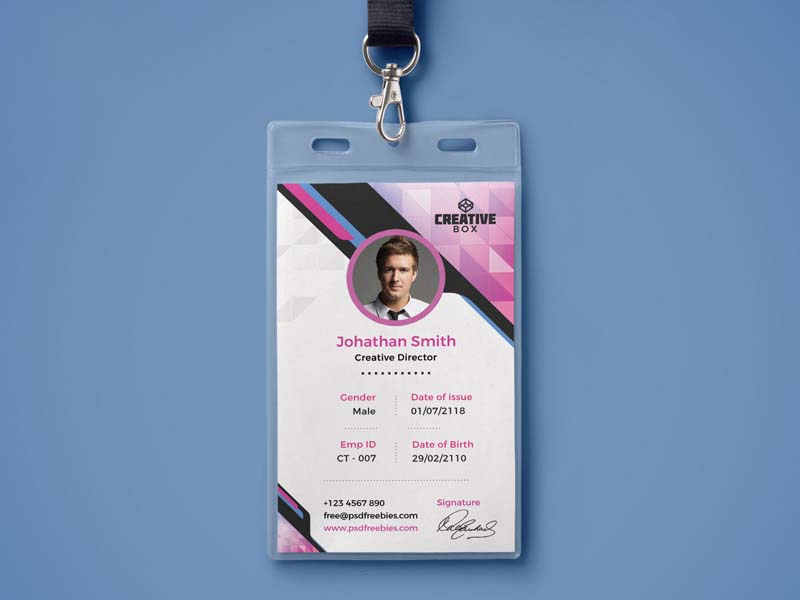 mẫu thẻ đeo creative box