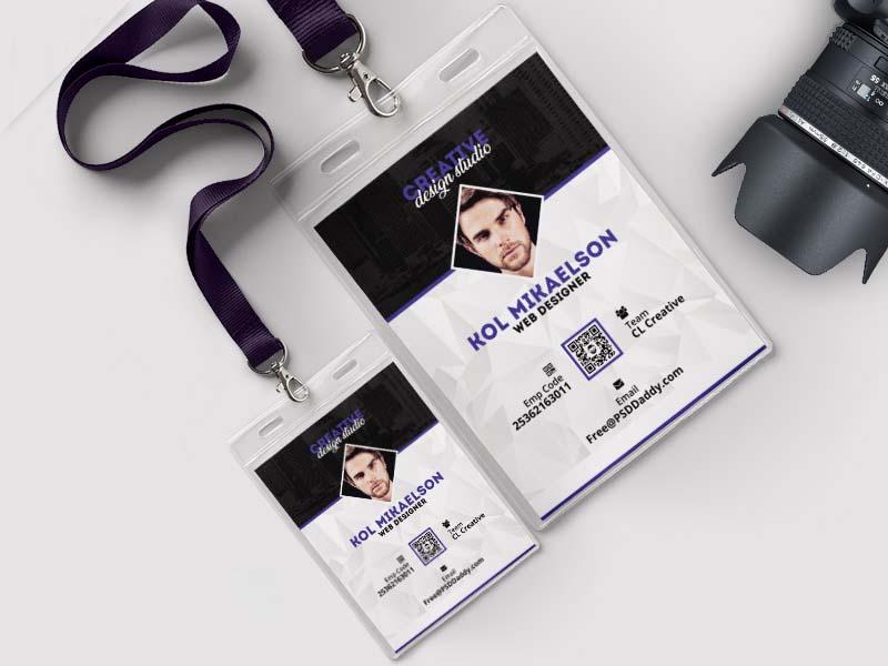 mẫu thẻ đeo creative design studio