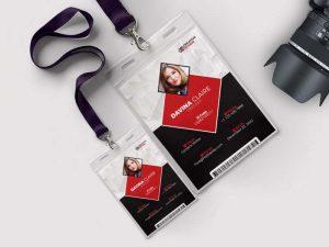 mẫu thẻ đeo thiết kế bởi creative studio
