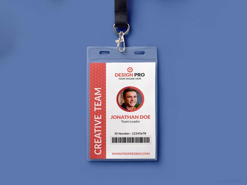 mẫu thẻ đeo design pro