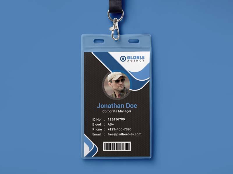 mẫu thẻ đeo globle agency