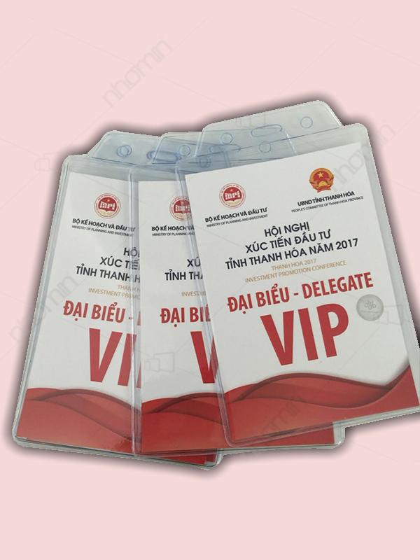 Mẫu thẻ đeo VIP hội nghị xúc tiến đầu tư
