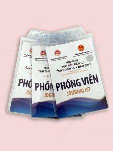 Mẫu thẻ đeo phóng viên hội nghị xúc tiến đầu tư