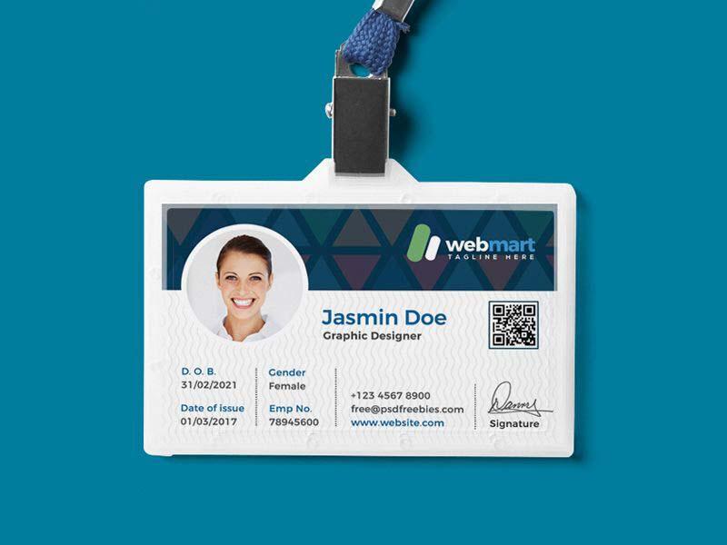 Kiểu mẫu thẻ đeo Webmart