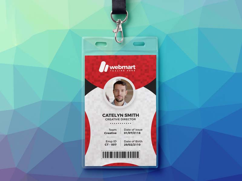 mẫu thẻ đeo Webmart