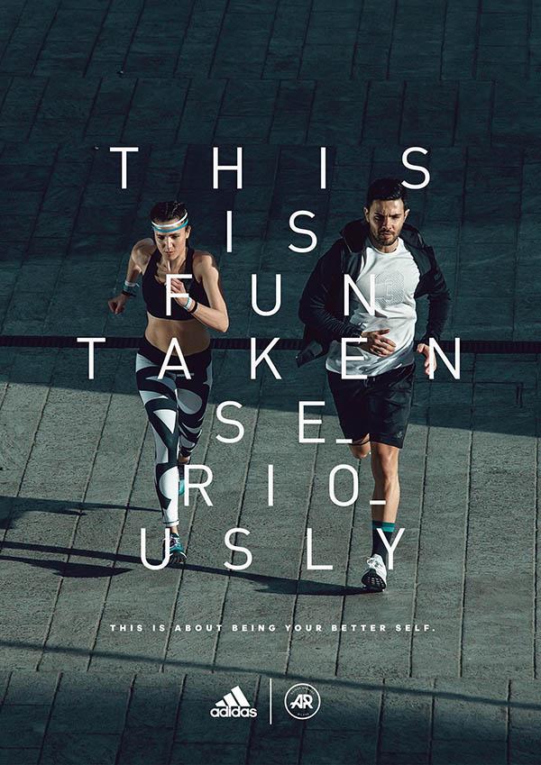 poster quảng cáo giáy adidas