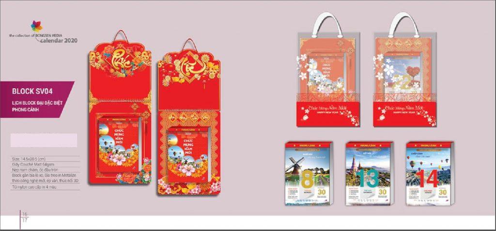 Mẫu lịch Block đại đặc biệt BS 2020 - Phong cảnh