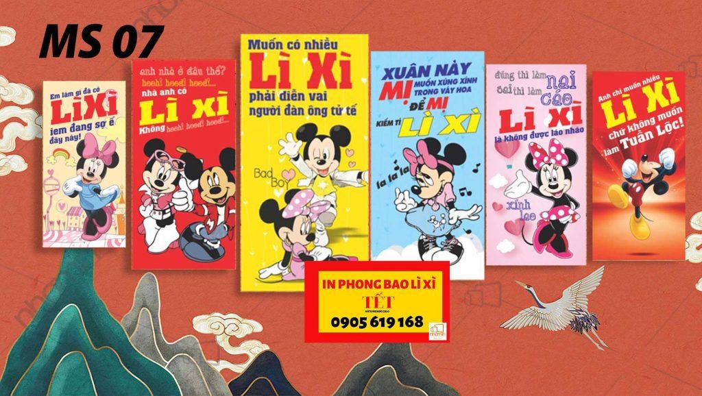 Phong bao lì xì 2020 - Nhà anh ở đâu thế chuột Mickey