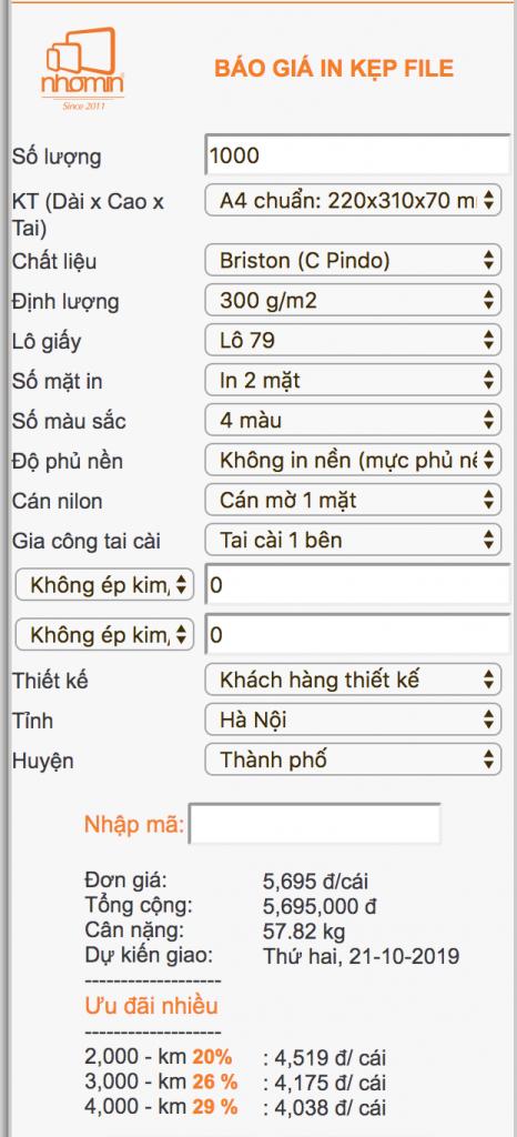 nhomin-bao gia in kep file 2 mat
