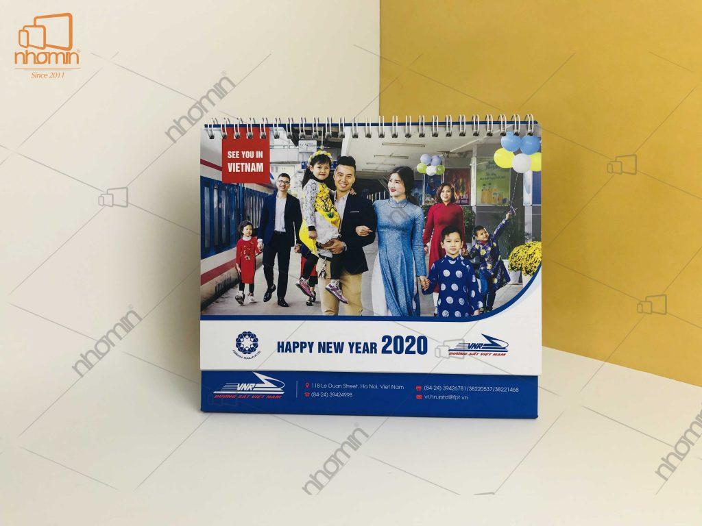 Lịch để bàn thiết kê độc quyền 2020 - Đường sắt Việt Nam