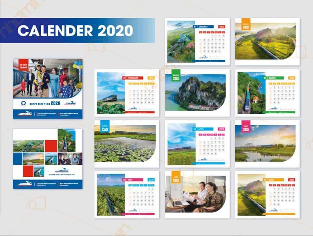 Lịch thiết kế 2020 Nhóm In - Đường sắt Việt Nam