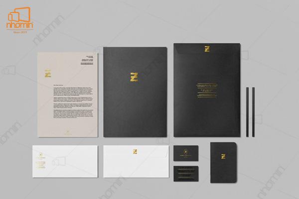 Mẫu thiết kế ấn phẩm văn phòng trang nhã và sang trọng