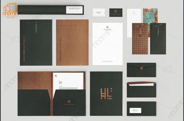 Mẫu thiết kế ấn phẩm văn phòng