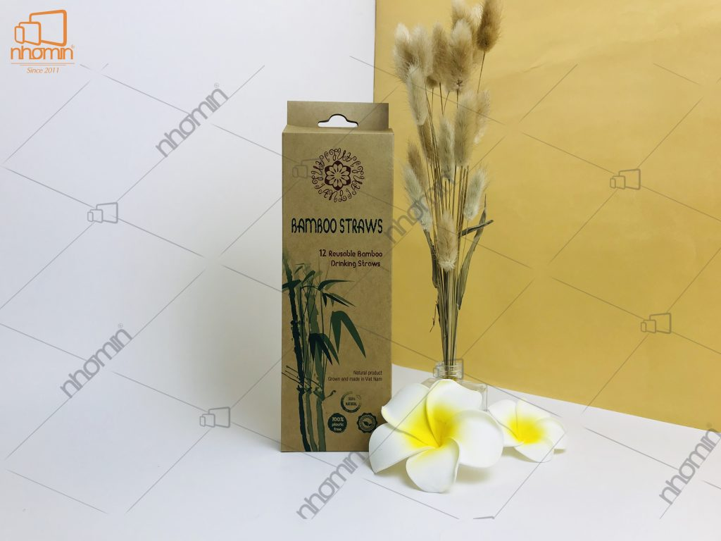 Hộp giấy Bamboo straws