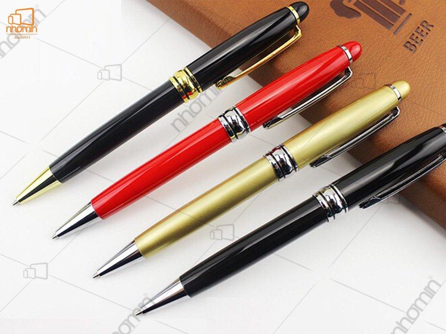In bút vỏ kim loại