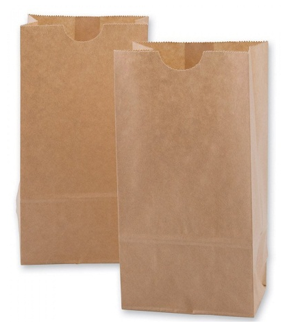 Túi giấy kraft nâu đơn giản