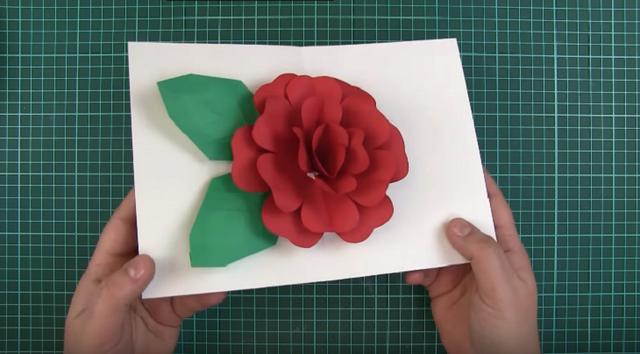 Thiệp hoa hồng 3D