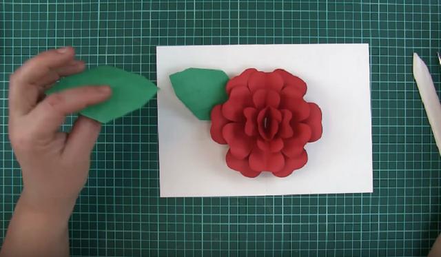 Cắt thêm lá để trang trí hoa