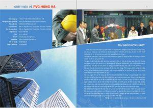 Mẫu thiết kế profile Công ty xây dựng Hồng Hà