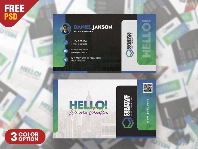 Designer Business Card PSD Templates
