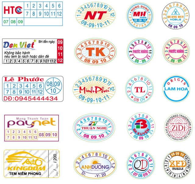 mẫu tem bảo hành 7