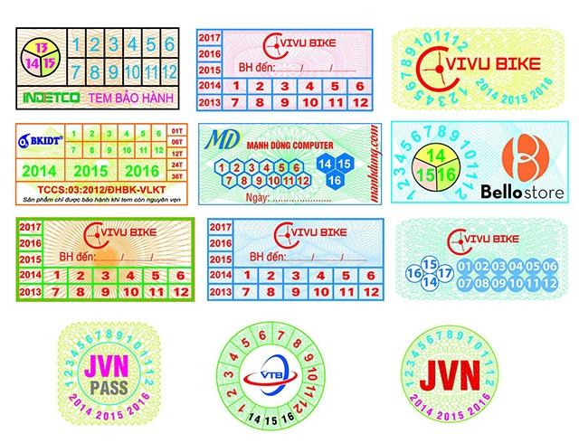 mẫu tem bảo hành 9