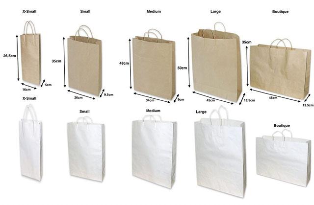 kích thước túi giấy 3
