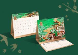 mẫu lịch để bàn 2021 đẹp 1